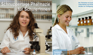 Schnuppertage Pharmazie am Institut Dr. Flad