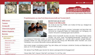 Unsere Chemie in der Mikrowelle zu Gast im Feudenheim-Gymnasium Mannheim